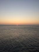 Sunset on a beach in Aberystwyth