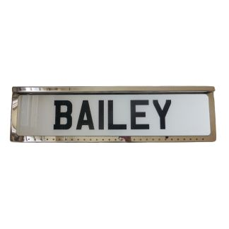 Universal Number Plate Surround with 2 LED Strips