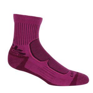 Ladies active socks 2 pack blackberry / violet