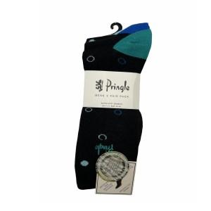 Pringle Socks - black polka dot - l6770mblk