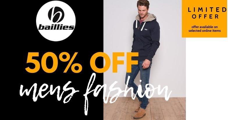 50% Off mens fashion sale