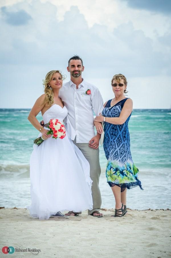 Tammy and Jason Destination Wedding in Barcelo Maya Beach Resort Mexico
