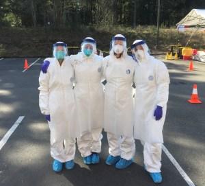 COVID-19 testing crew
