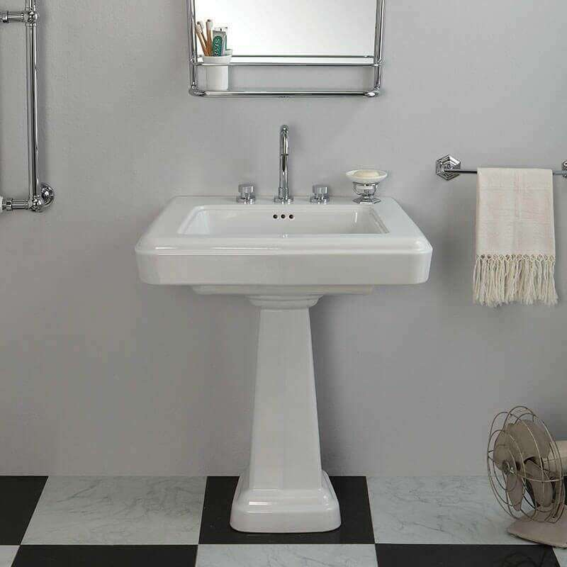 lavabo retro en ceramique 75 cm fifties