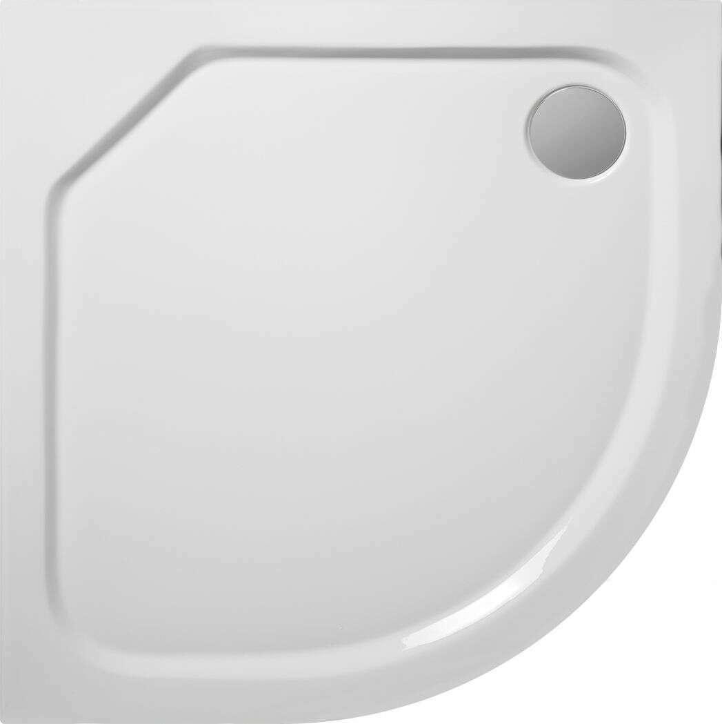 receveur de douche quart de cercle practic 80x80 cm acrylique antiderapant