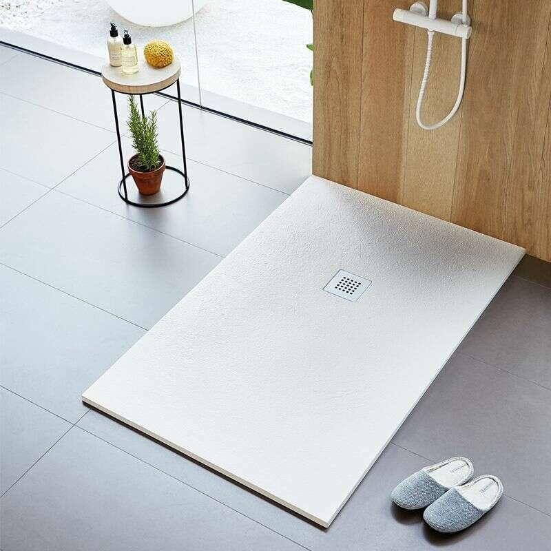 receveur de douche strato extra plat blanc 110 x 80 cm