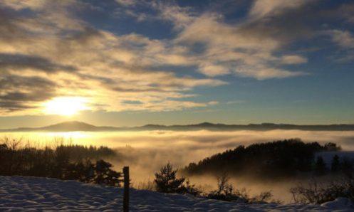 paysage monts du forez sous la neige