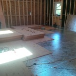 Laying the subfloor