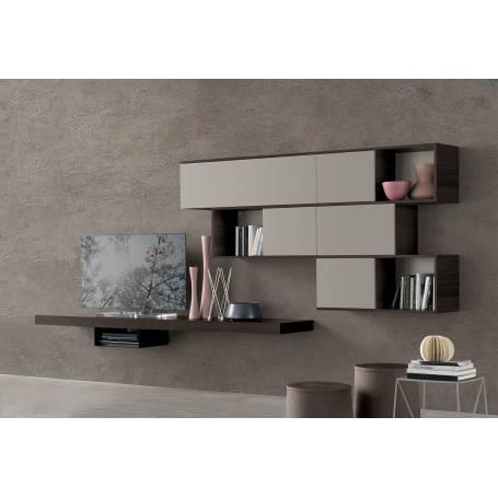meuble tv suspendu valence bois mdf stratifie 200 120 35 cm