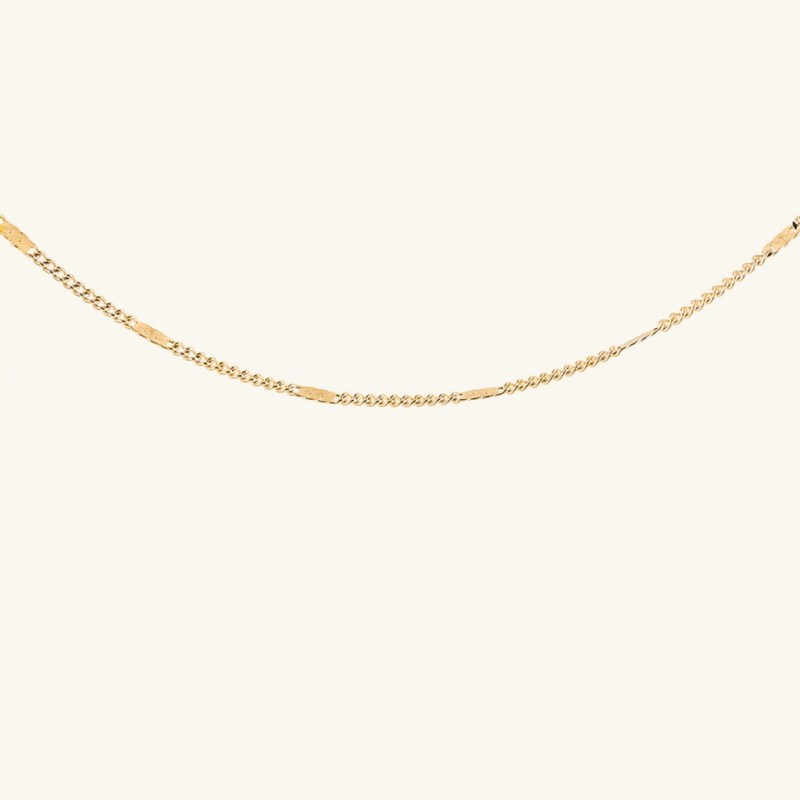 Gold plated chain Livia necklace waterproof jewelry