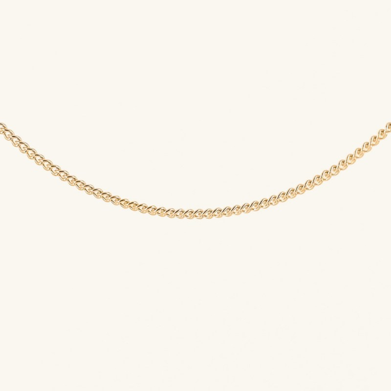 Gold plated chain necklace jewelry