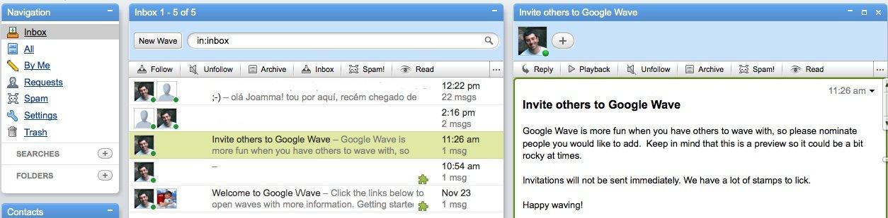 Convite Google Wave
