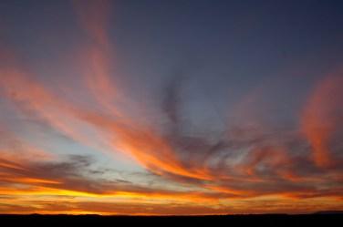 Sunset at San Ignacio Lagoon