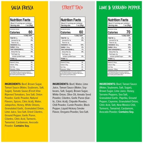 fiesta pack nutrition