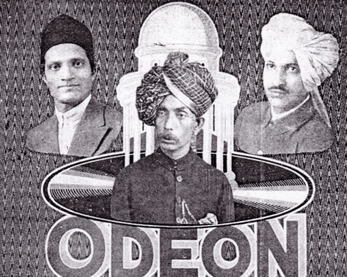Ruby Record Company, Bombay, Abdul Karim Khan, Odeon Records Cardboard Promotion - Private Collection