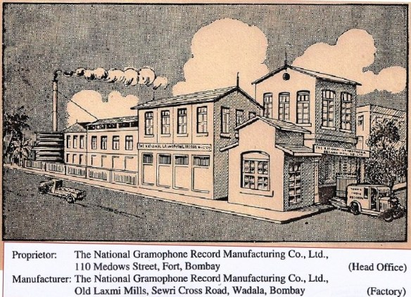 The National Gramophone Record Manufacturing Co., Ltd., Wadala, Bombay