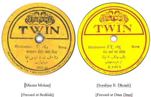 The Twin Record Co. Ltd. Calcutta, The Twin Record Co. Dum Dum