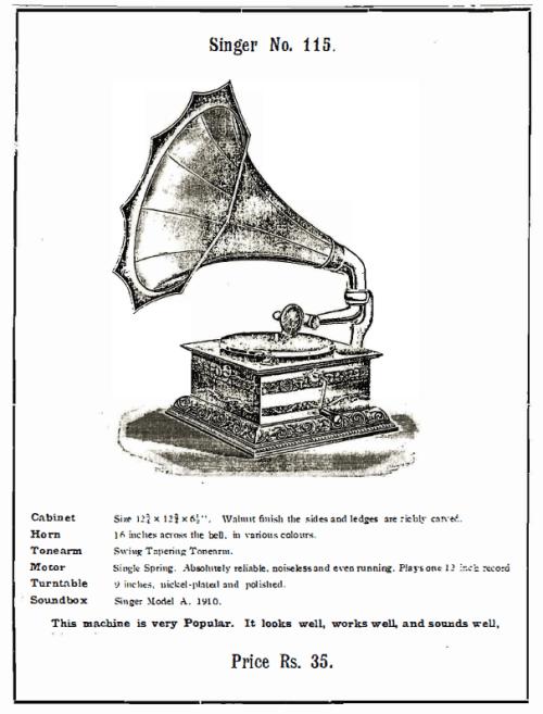 Singer Talking Machines, Singer No. 115