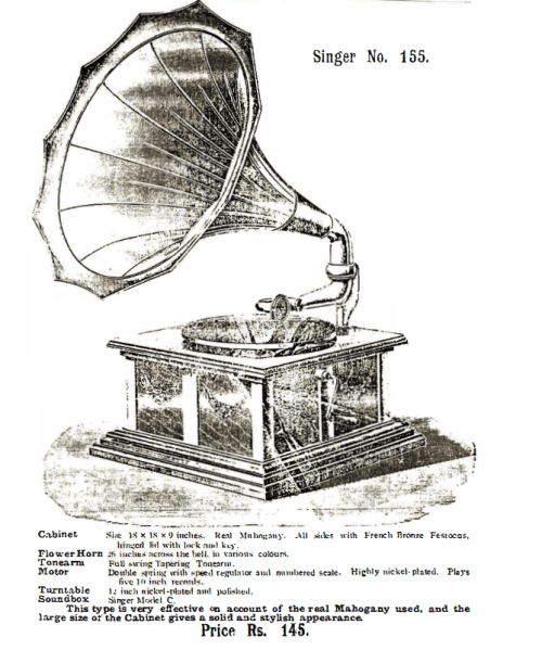 Singer Talking Machine, Singer No. 155