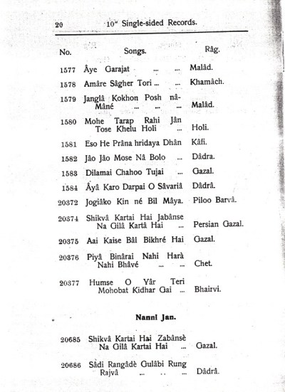 Beka Record Catalogue, India, December 1930