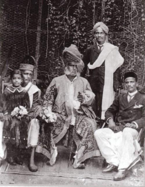 Rahimat Khan with Vishnupant Chhatre and his brother Vinayakra Chhatre
