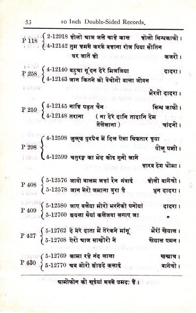 The Gramophone Company Ltd., Nagri, 1921, Page 53