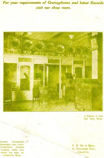 N.B. Sen & Bros. Calcutta, Senola Record