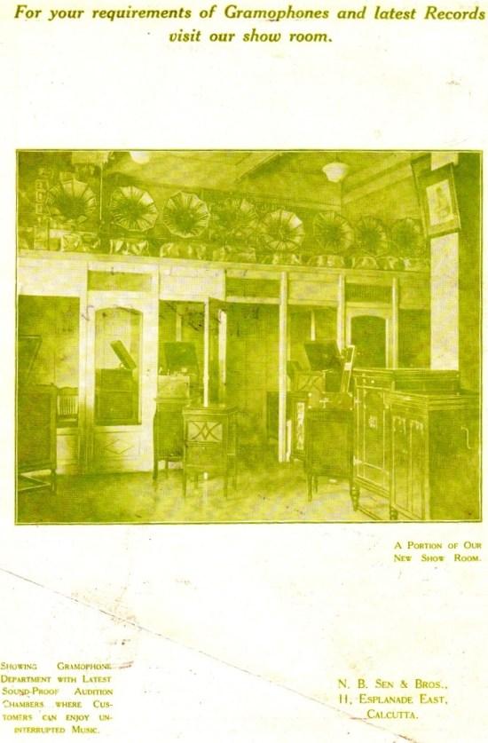N.B. Sen & Bros., Calcutta - Senola Record