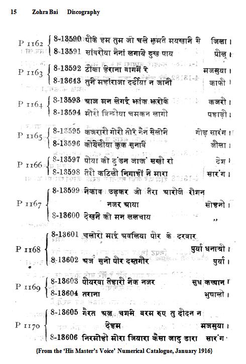 Zohra Bai Discography, Page 15