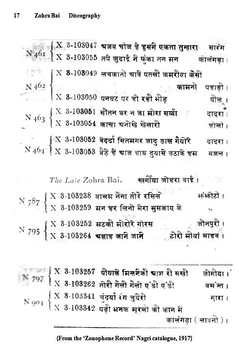 Zohra Bai Discography, Page 17