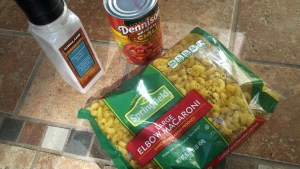 Chili Mac ingredients