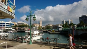 View from the Waterfront Cafe Building in Bridgetown Photo by Bajan Mom