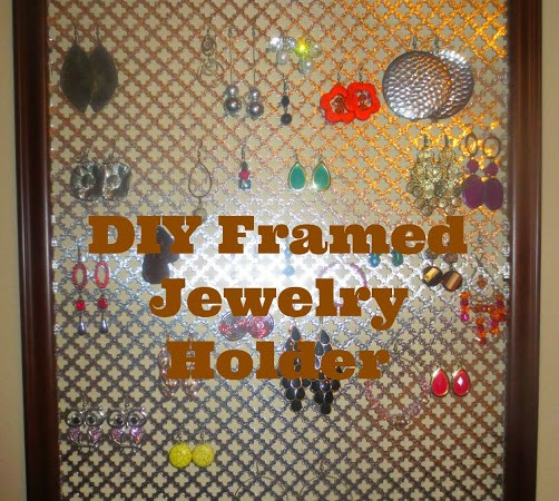 Framed Jewelry Holder