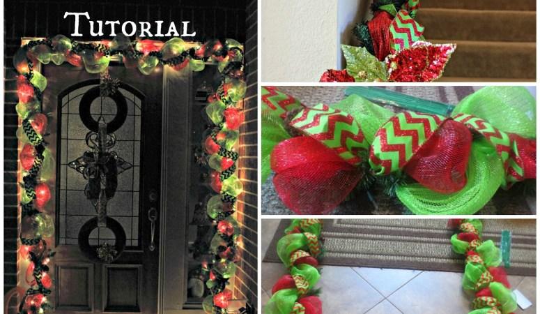 DIY Holiday Garland Using Deco Mesh (Holiday Decor Series)