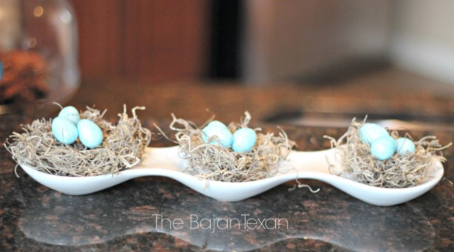 DIY Easter Decor: Egg Nests (Spring Decor 1) - Make this super cute spring decor. As usual, so simple, quick, & inexpensive to make!