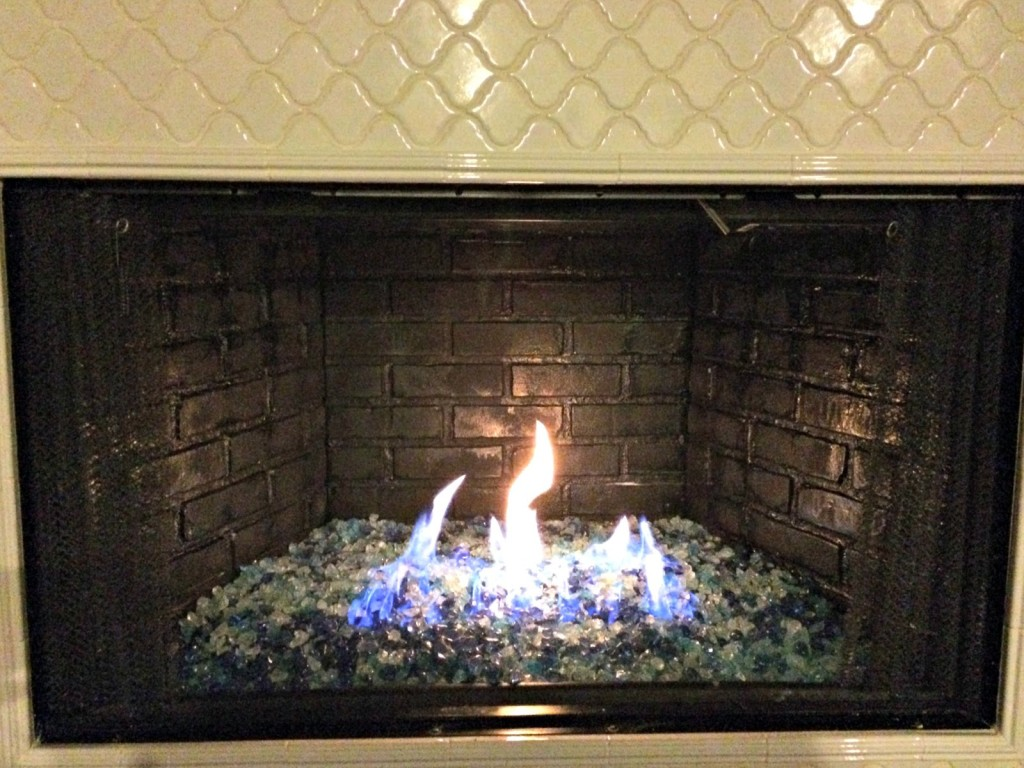 Amazing Fire Glass Fireplace Makeover – The Bajan Texan