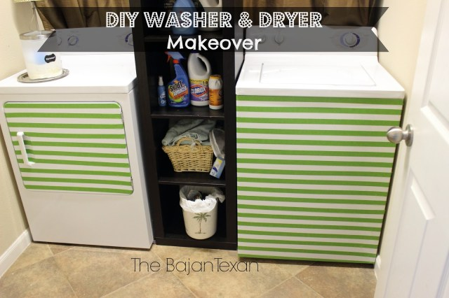 DIY Washer Makeover + Dryer (Laundry Makeover) - Revamp your washing machine and dryer with these super quick, easy, and inexpensive ideas!