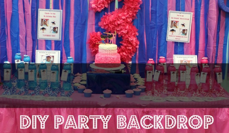 DIY Party Backdrop: Make it in Minutes!