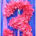 DIY Party Decor: Tissue Paper Birthday Number Sign Tutorial