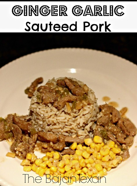 Sauteed Ginger Garlic Pork Recipe - Make this recipe for the whole family within 30 minutes! A quick, easy, and inexpensive meal!