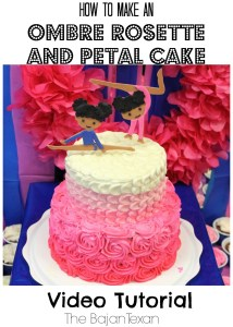 how to make a rosette petal cake