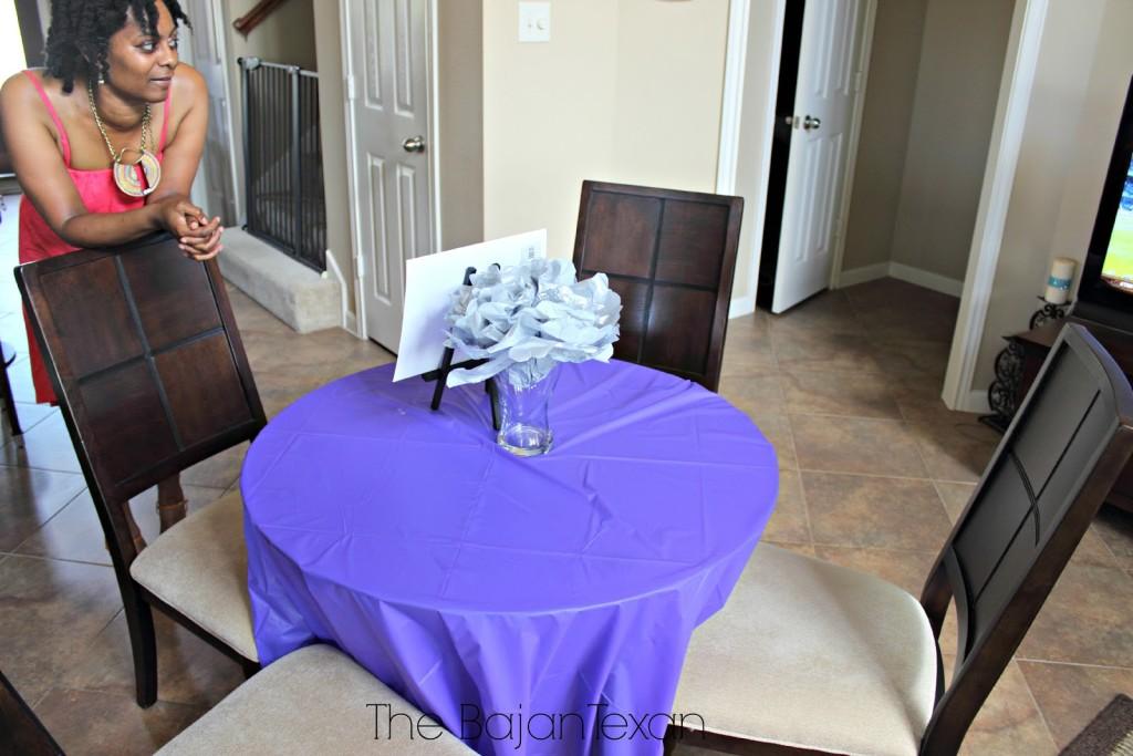 Diy Bridal Shower Purple And Silver The Bajan Texan