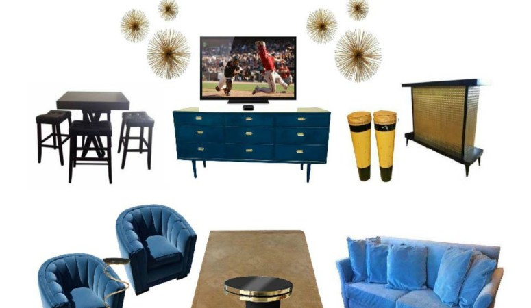 The Ultimate Man Cave furnished by Chairish