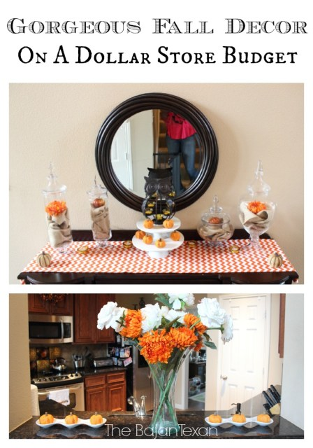 Easy Fall Decor Ideas: 5 Tips for Decorating for Fall on a Budget - Check out these inexpensive but gorgeous decorating tips and ideas!