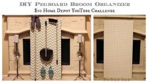 DIY broom organizer