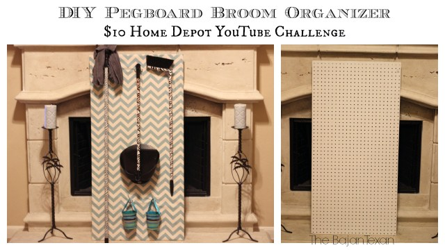 DIY Pegboard Organizer - $10 Home Depot YouTube Challenge - Make your own inexpensive but fabulous pegboard broom organizer!