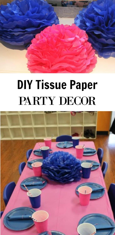 Diy Tissue Paper Flower Party Decor Video Tutorial The Bajan Texan