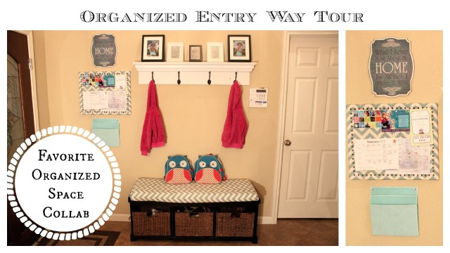 Organize Entry Way: Family Command Center