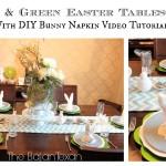 Bunny Napkin Tutorial: Easter Tablescape