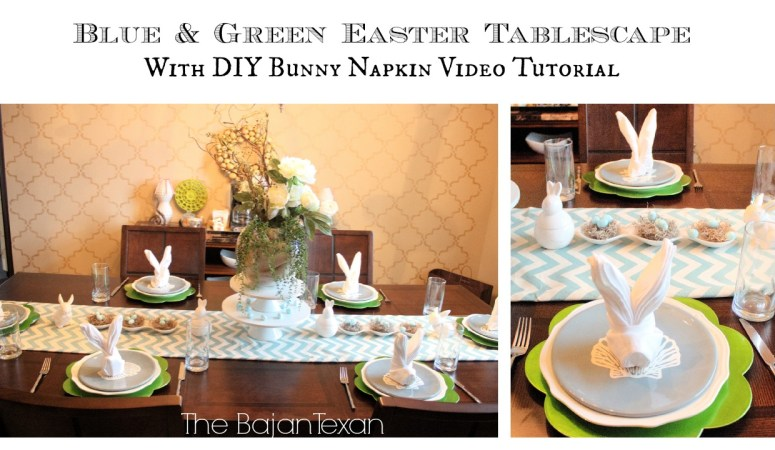 Bunny Napkin Tutorial: Easter Tablescape
